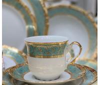 Констанция Бирюзовый набор чашек для чая 250 мл 12 штук