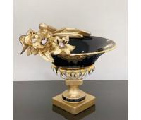Cevik Group Черная с Золотом ваза для фруктов 35см