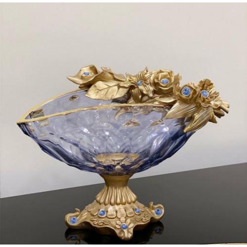 Cevik Group Голубая ваза для фруктов 40см