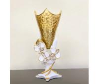 Cevik Group Золотая ваза для цветов 35 см