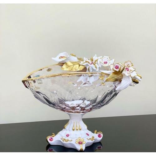 Cevik Group Белая ваза для фруктов 40см