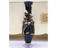 Cevik Group Черная с Золотом ваза для цветов 80 см напольная