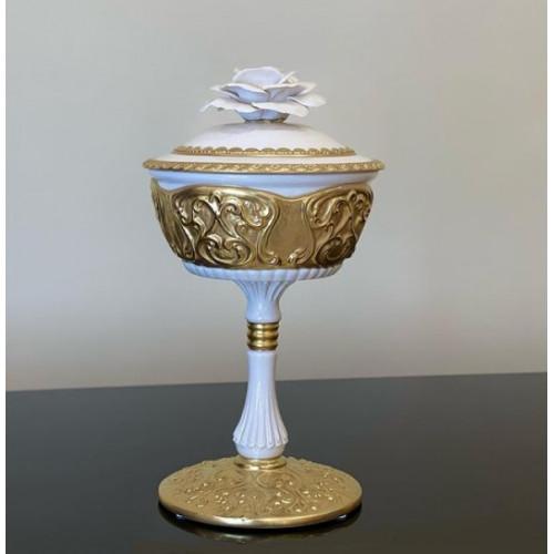 Cattin (Каттин) ваза на ножке 18см с крышкой (диаметр 14 см)