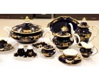 Синий Кленовый Лист столовый сервиз на 12 персон 93 предмета