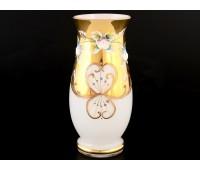 Белая Лепка ваза для цветов Пител15см