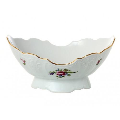 Бернадотт Полевой цветок  ваза для фруктов ладья 28см