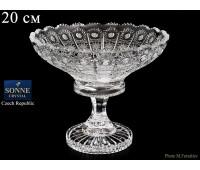 Хрусталь Снежинка Glasspo ваза для конфет 20см