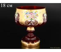 Красная Лепка ваза для конфет 18см