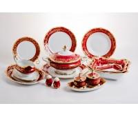 """Веймар """"Ювел Красный"""" сервиз столовый на 12 персон 49 предметов"""