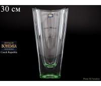 "Стекло ""Окинава"" ваза для цветов 30см зеленая"