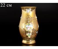 Лепка Золотая Смальта ваза для цветов 22см