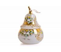 Белая Лепка ваза с крышкой груша 16см
