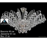 Титания Люкс люстра 6 свечей никель