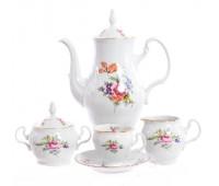 Бернадотт Полевой цветок сервиз кофейный на 6 персон из 15-ти предметов
