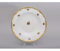 "Веймар ""Роза Золотая 1007"" набор тарелок 24см из 6ти штук глубоких"