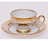 """Веймар """"Золотая Симфония 427"""" набор чашек с блюдцами для кофе Мокко 100мл 6штук"""