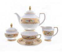 """Falken Porselan """"Виена Крем Голд"""" чайный сервиз на 6 персон 15 предметов"""