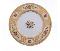"Falken Porselan ""Виена Крем Голд"" набор тарелок 23см 6штук"