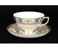 "Falken Porselan ""Виена Блю Голд"" набор чайных пар 200мл 6штук"
