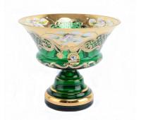 Зеленая Лепка E-V ваза для конфет 15см