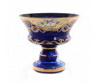 Синяя Лепка ваза для конфет 15см