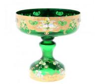 Зеленая Лепка ваза для фруктов 26см
