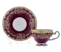 """Веймар """"Ювел Красный"""" набор для чая 210мл на 6 персон 12 предметов"""