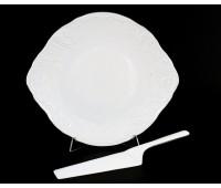 Бернадот 2021 Платина блюдо круглое 27см для торта с лопаткой