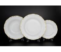 АГ 841 Золотая Полоса набор тарелок из 18ти штук