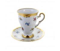 """Веймар """"1016 Мейсенский Цветок"""" набор чашка с блюдцем для каппучино  260мл"""