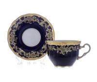 "Веймар ""Ювел Синий 801"" набор для чая 400мл 2 предмета"