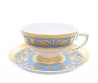 "Falken Porsellan ""Империал Блю Голд"" набор чашек с блюдцами для чая 250мл из 6ти штук"