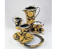 """Rosenthal Versace """"Ванити"""" сервиз чайный на 6 персон из 21 предмета"""