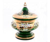 Зеленая Лепка E-V ваза для конфет 21см