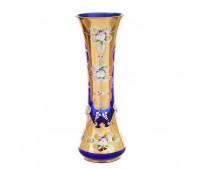 Синяя Лепка ваза для цветов 22см