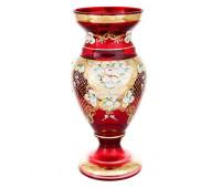 Красная Лепка ваза для цветов 35см