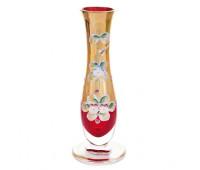 Красная Лепка ваза для цветов 18см