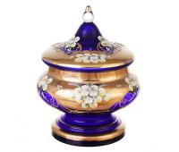 Синяя Лепка ваза для конфет 21см