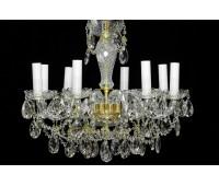 Биджев люстра 8 свечей, диаметр 59см, высота 51см