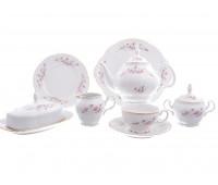 Бернадотт Роза Серая  сервиз чайный на 12 персон 44 предмета