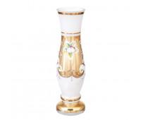Белая Лепка ваза для цветов 20см
