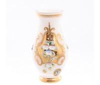 Белая Лепка ваза для цветов 16см