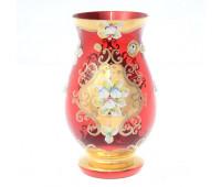 Красная Лепка ваза для цветов 22см