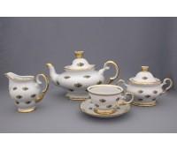 АГ 851 Полевой Цветок чайный сервиз на 6 персон 15 предметов