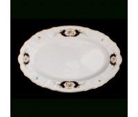 Бернадот Синий Глаз  Блюдо овальное 34см