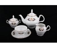 Бернадот Синий глаз сервиз чайный 15 предметов на 6 персон