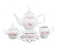 Бернадотт Роза Серая Платина сервиз чайный 15 предметов на 6 персон