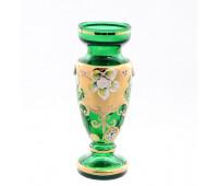 Зеленая Лепка ваза для цветов 16см