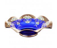 Синяя Лепка веер ваза для фруктов 25см
