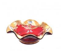 Красная Лепка веер ваза для конфет 16см